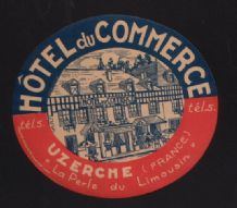 Collectible Hotel label luggage label   OLD France  #536